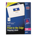 "Avery Shipping Labels, Sure Feed, Print to the Edge, Permanent Adhesive, 3"" Width x 3 3/4"" Length, Rectangle, Laser, White, Pack of 150 Sheets, 6 Labels Per Sheet"