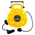 Bayco 50ft Retractable Polymer Cord Reel w/3 Outlets, 13amp, Priced Each (SL-8903)