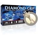 Diamond Grip Latex Gloves, White, 100 Per Box