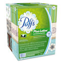 Puffs Plus Lotion 2-Ply Facial Tissue, White, Case of 24 Boxes