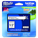 "Brother P-touch TZE-231 Tape, 1/2"" (0.47"") Standard Laminated P-touch Tape, Black on White, Water Resistant, 26.2 Feet (8M), Priced Each"
