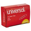 Paper Clips, Smooth Finish, No. 1, Silver, 100/Box